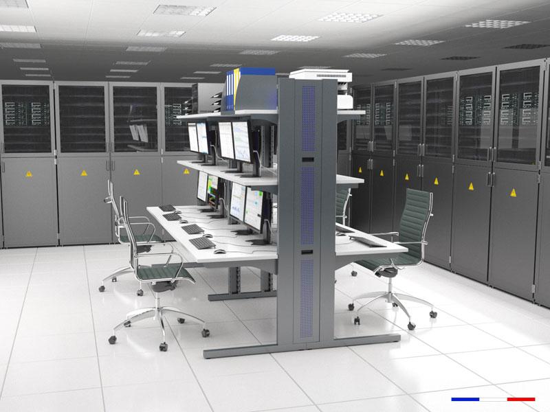 Mobilier et stations informatiques pour salles réseaux et salles serveurs