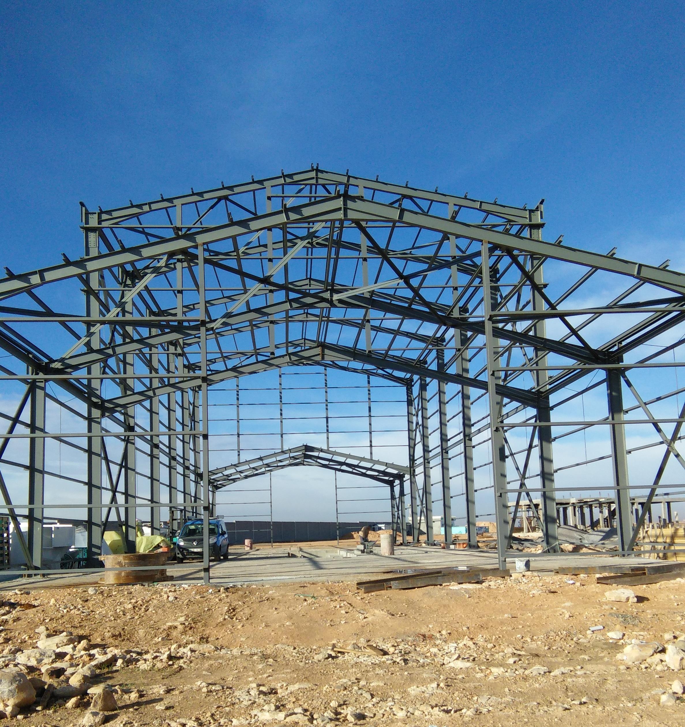 Charpente métallique Construction lourde (complexe industriel et agricole). Construction de Chambre ...