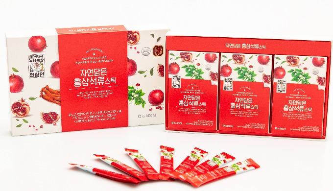 Pomegranate extract 32%, 6-year-old Korean Red Ginseng extract (solid content 65%, saponin 70mg/g) 0...