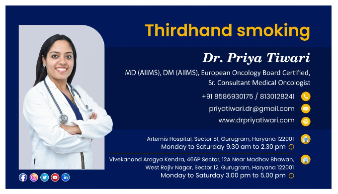 Let's discuss Thirdhand smoking. For more information related to Cancer, you can contact me at the b...