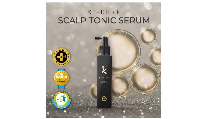 4)K1-CURE SCALP TONIC SERUM l hair loss prevention