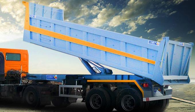 La semi-remorque benne TP 20m³ est particulièrement adaptée aux chantiers de travaux publics pour le...