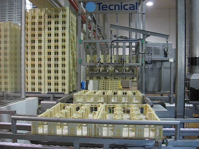 Case stacker and destacker