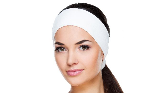 Bandeau éponge en coton pour instituts de beauté, spa, clinique esthetique. Bandeau disposant d'un v...