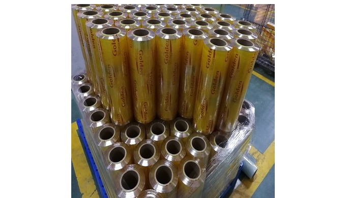 PVC Cling Film mainly is used for food, meat wrapping. It is environmental, safety, hygiene. The spe...