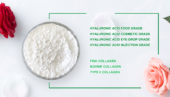 Cosmetic grade hyaluronic acid Hyaluronic Acid is a type of polysaccharide, Also known as hyaluronat...