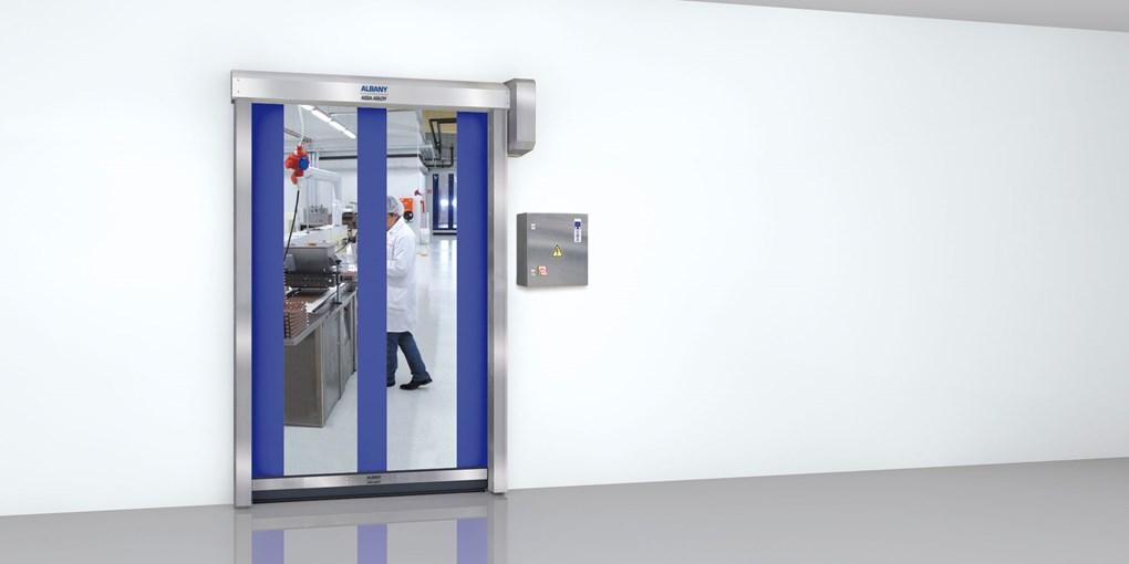 Die ASSA ABLOY Schnelllauftore für die Lebensmittelindustrie sind für Anwendungen konstruiert, bei d...