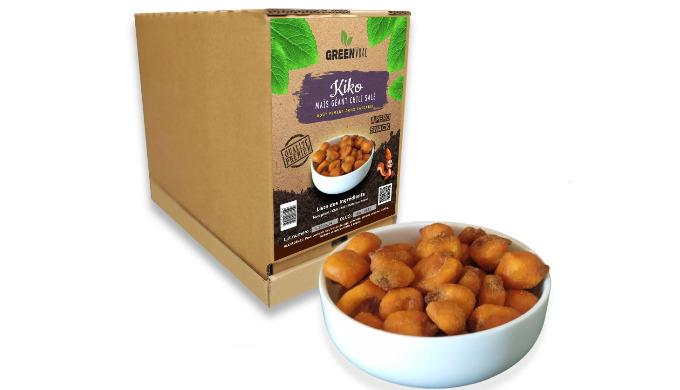 Notre Maïs Géant au chili (kiko) Frits Salés Apéro en vrac sont préparés et conditionnés en Espagne....