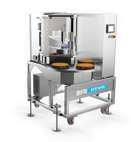 Machine de découpe de tartes - erma 600p est conçu pour la découpe de tartes fraîches ou surgelées e...