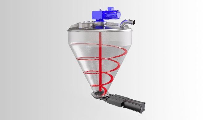 Il 3 in 1 (pesatura, filtraggio, miscelazione) pesa l'ingrediente, separa l'aria dal prodotto durant...