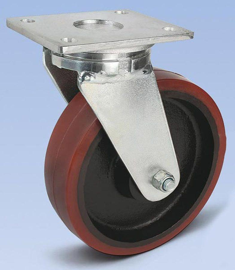 Rad-Ø x Breite 150 x 50 mm, Plattenmass 175 x 140 mmGehäuse in schwerer Stahlschweißkonstruktion, ve...