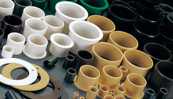 Gleitlager aus Hochleistungspolymeren Die wartungsfreien Kunststoff-Gleitlager werden gefertigt aus ...