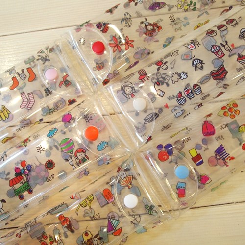Odong et Valerier Clear Pencil Pouch Pastel Series1~6. size 7.5 x 21 cm. The Six kinds of products. ...