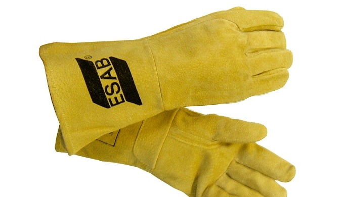 Un gant de soudage TIG économique avec manchette de protection de 15 cm en cuir refendu. Catégorie 1...