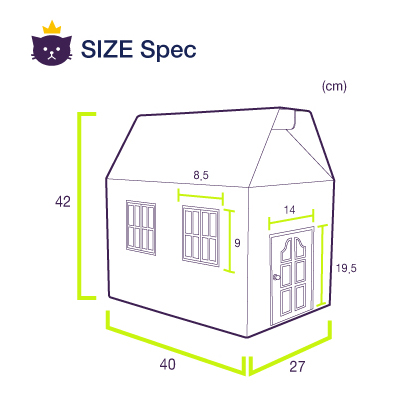 sherbet(CPAC-HU101)_detail CATSPIA Paper House helps you to communicate with you cat by playing with...