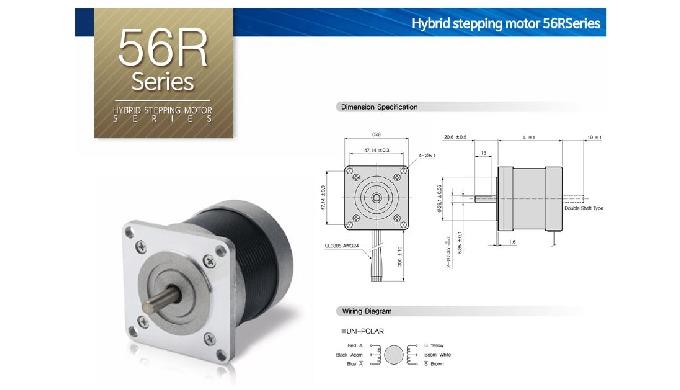 Hybrid stepping motor_56R Series l gearhead hybrid stepping motor