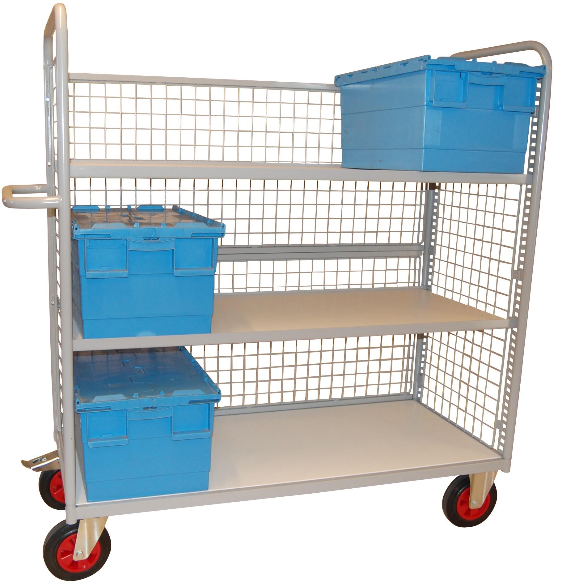 Produit: Chariot plateaux- 2 étagères réglables en hauteur- 2 joues latérales grillagées - 3 plateau...