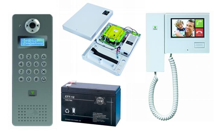 Alle typer adgangskontrol, både kablet, trådløst og IP baseret. Dørstyring, læsere, Net 2 entry m.m.