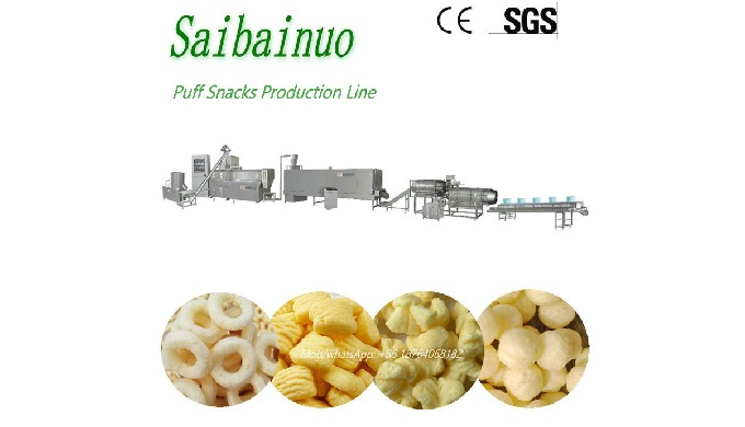 Puff Snack Processing Line adopt advanced extrusion technology with high efficiency instead of tradi...