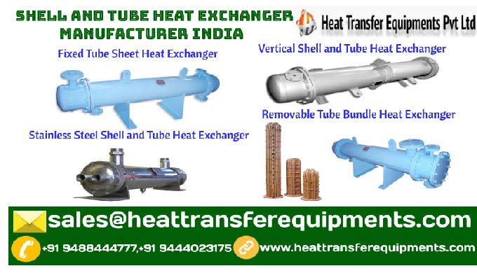 shell and tube heat exchange Heat transfer equipments Pvt Ltd