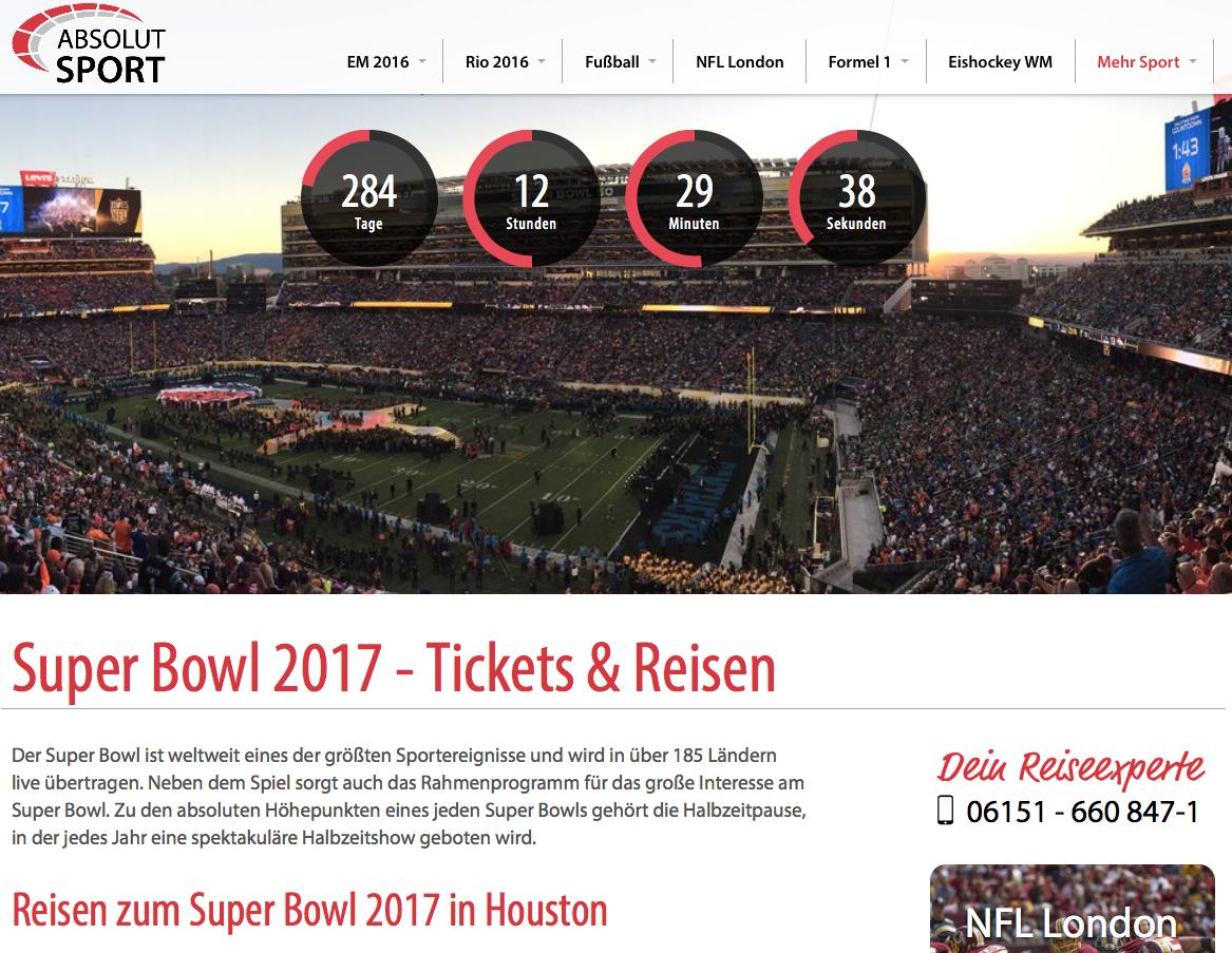 Auch 2017 bieten wir wieder unsere Reisen zum Super Bowl in den USA an. Für alle Super Bowl Fans, di...