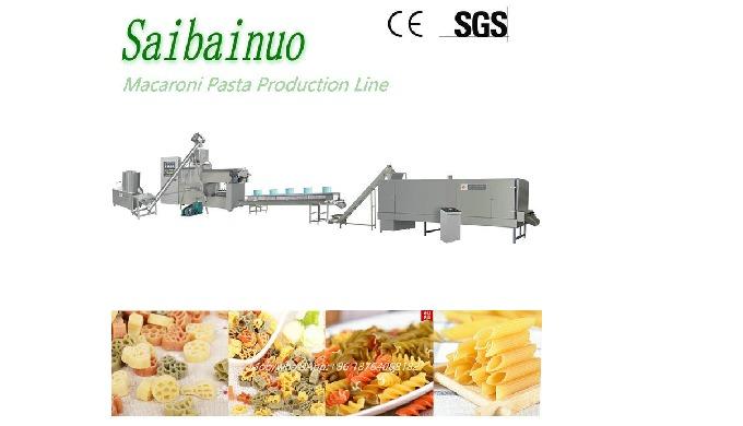 The macaroni making machine is using advanced extrusion technology to produce popular macaroni pasta...
