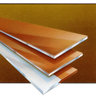 Kopparpläterad aluminiumplåt Plåten levereras i tjocklekar 0,5 -3,0 mm. Används bland annat till kon...