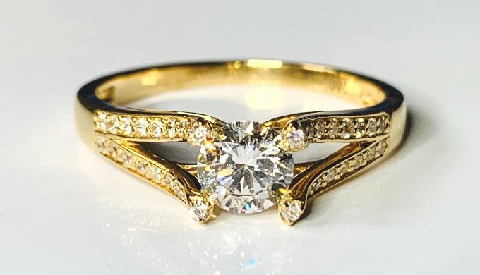 Matière: Or 750/1000 Poids: 2.40gr Couleur du métal: Jaune Pierres Nature: Diamant Nombre: 1 Caratag...