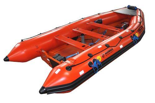 Narhvalen SV-420 halvstiv oppustelig MOB båd er en robust båd med fremragende manøvre kapaciteter. R...