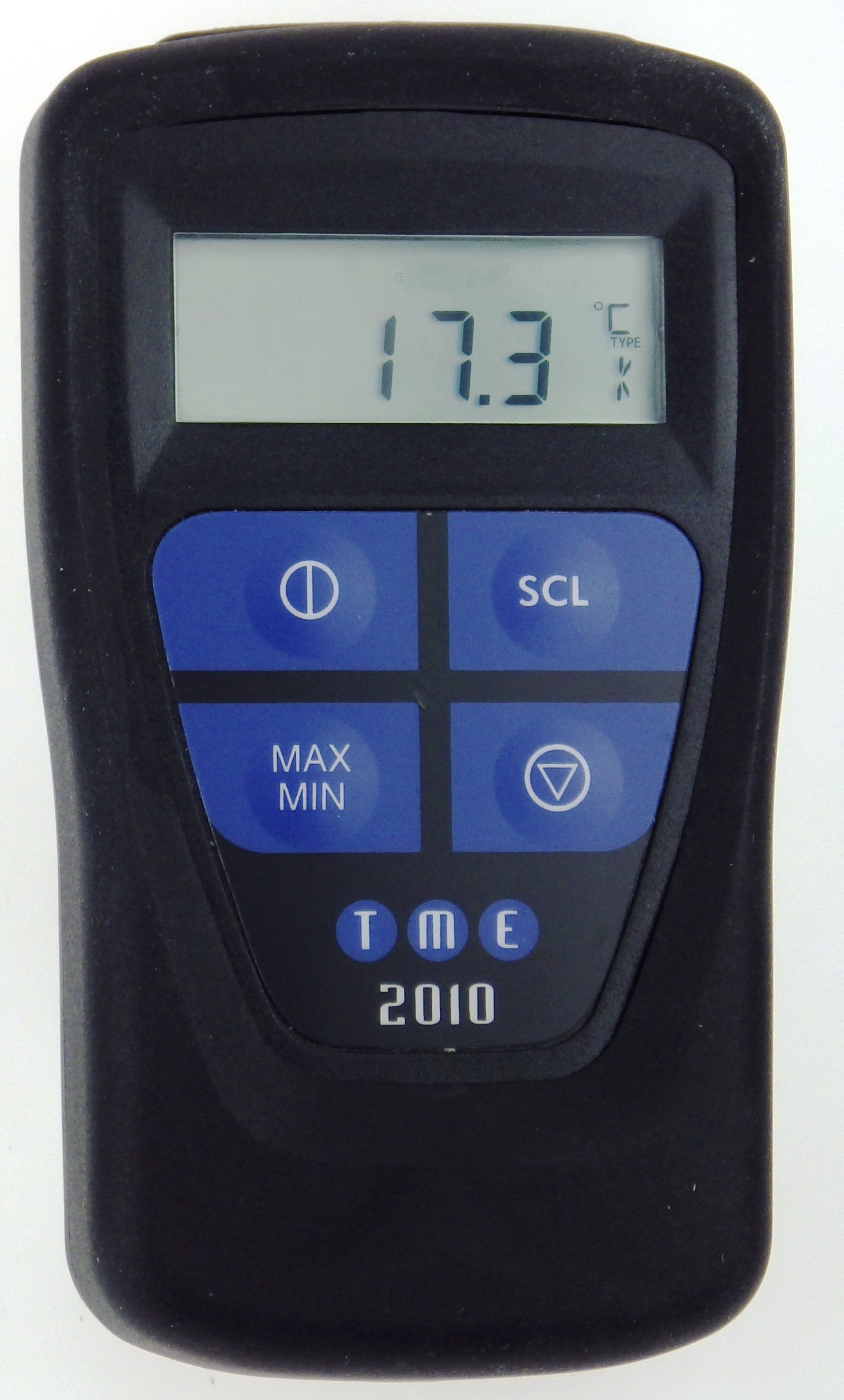 This Waterproof, Self-Calibrating Thermometer has Max/Min functions, Max/Min/Hold measurement, hold ...