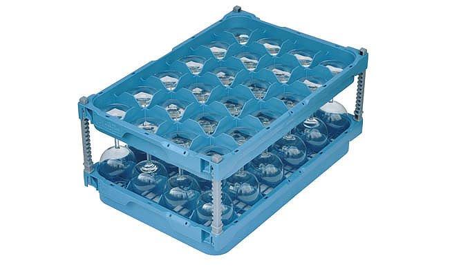 Die Glas Manager rationalisieren den Arbeitsaufwand zwischen Gläserwaschen, Transport und Lagerung. ...