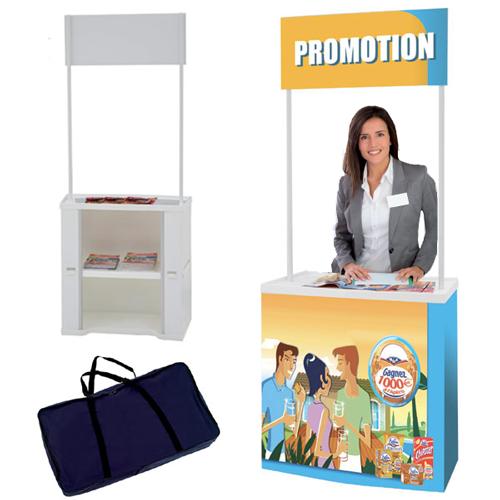 Solution idéale pour vos opérations de marketing, foires, expos, démonstrations...1 plateau supérieu...