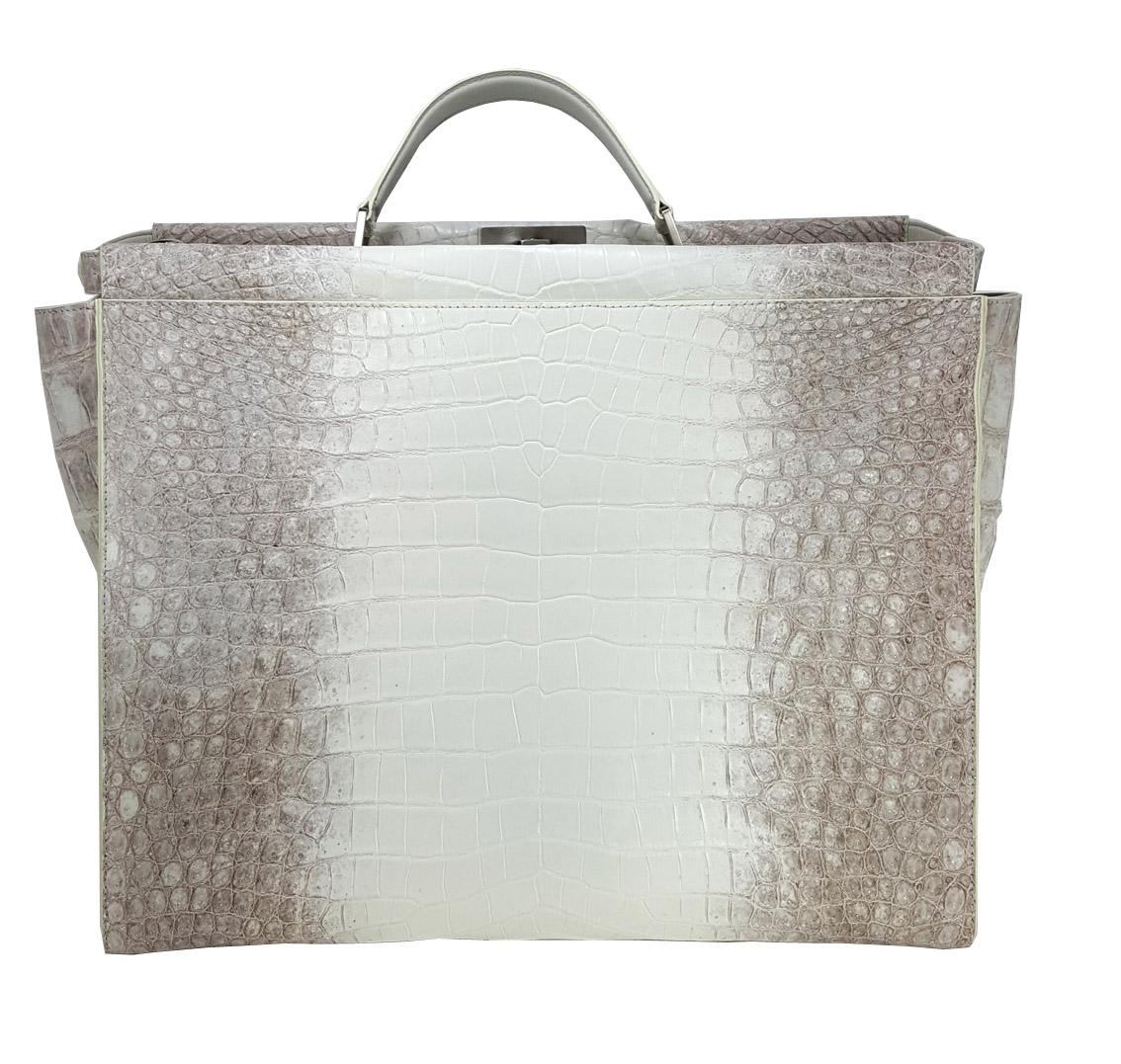 Luxury Crocodile Leather Briefacase for Men Leather : Crododylus Niloticus Color : Himalaya Size : 4...