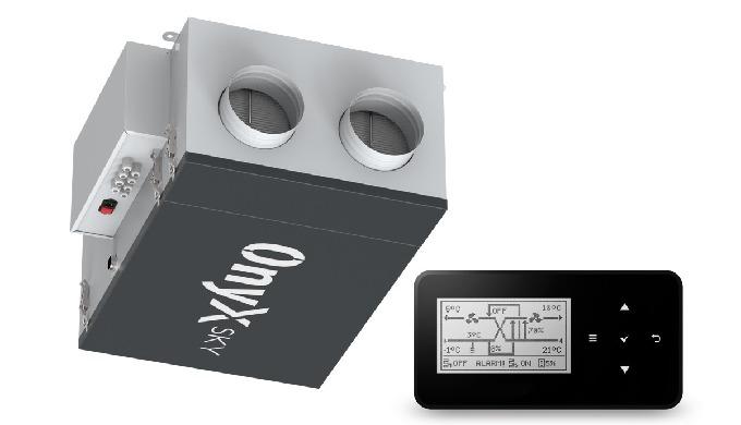 Rekuperator ONYX SKY 250 - centrala podwieszana z automatyką