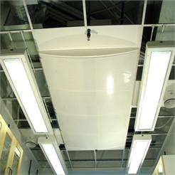 FUNKTION Takdon avsett för dragfri tillförsel av stora luftflöden t.ex. till laboratorier. Donet har...