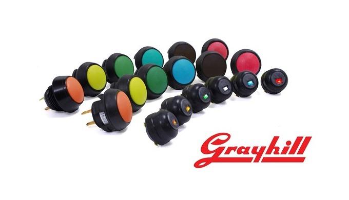 Tlačítkové spínače GRAYHILL