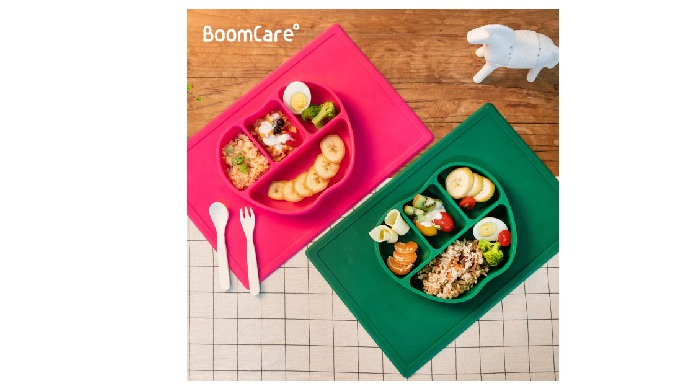 ISPROBE BoomCare Silicone Absorption Food Tray