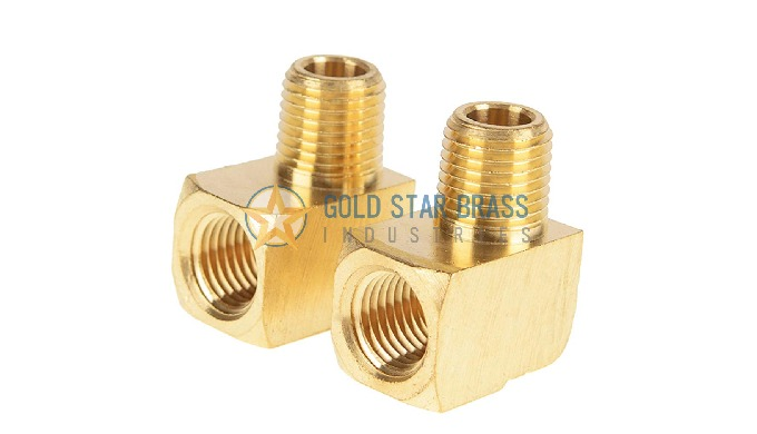 Brass 90 Degree Male Female Stree Elbow made from Brass Extrusion Materials