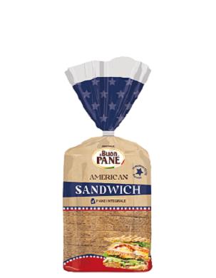 PANE INTEGRALE AMERICAN SANDWICH 375GR
