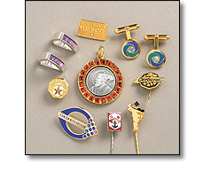 Corporate Jewellery, such as cufflinks, long service awards, tie pins, tie slides, brooches. Also in...
