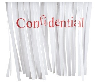Destruction des documents confidentiels