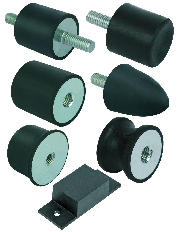 Material: Metal parts steel grade 5.6 or stainless steel. Elastomer natural rubber, medium hardness,...