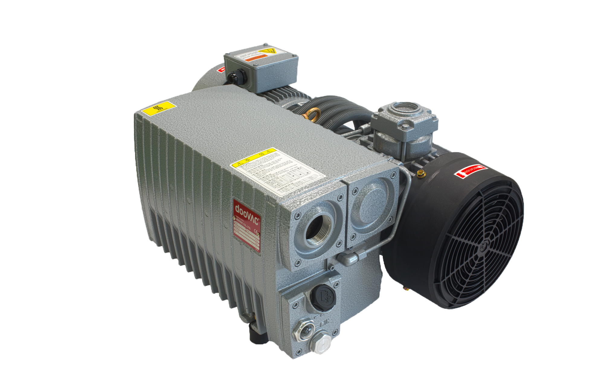 This product is an oil circulating rotary vane vacuum pump and its basic structure is composed of ro...