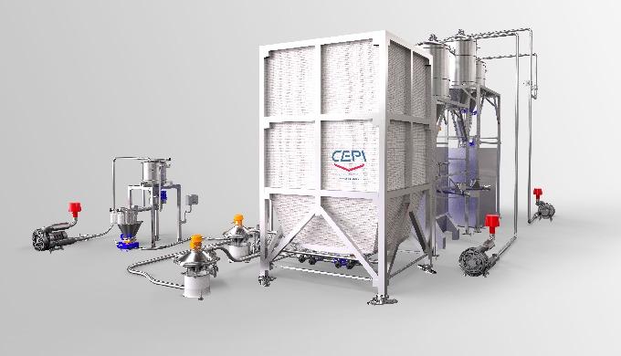 Trevibox è un silo per interni in tessuto antistatico Trevira dotato di letto fluido. Le soluzioni i...
