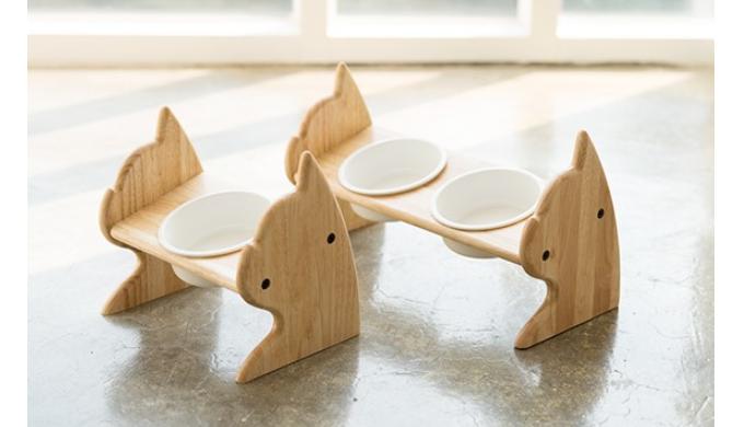 SCOGKATT CS Premium Elevated Dogs and Cats Feeder, Single Bowl Raised Stand with Ceramic Bowl Includ...