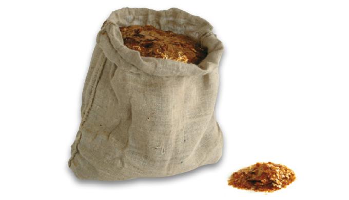 Gomma naturale, le scaglie si sciolgono in alcool 99,9°, l'€™utilizzo dona alla superficie un aspett...