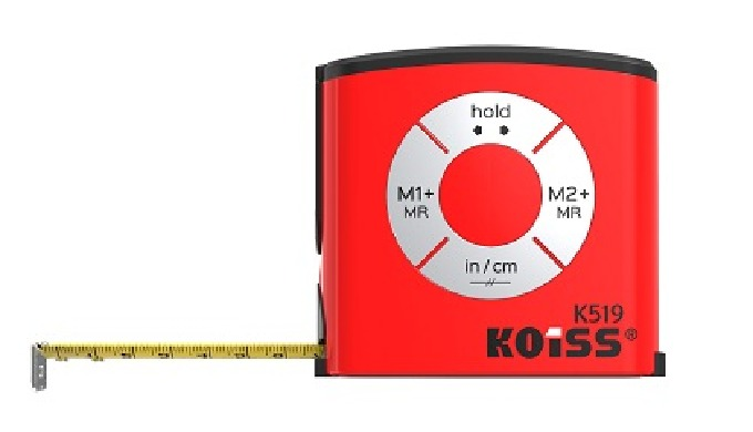 KOISS digital tape measure has a large digital readout that enable you to catch the measurement quic...