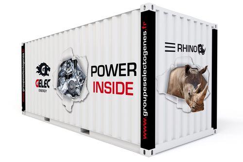 Groupe électrogène conteneurisé 550 kVA : La gamme RHINO se différencie par ses capacités de synchro...