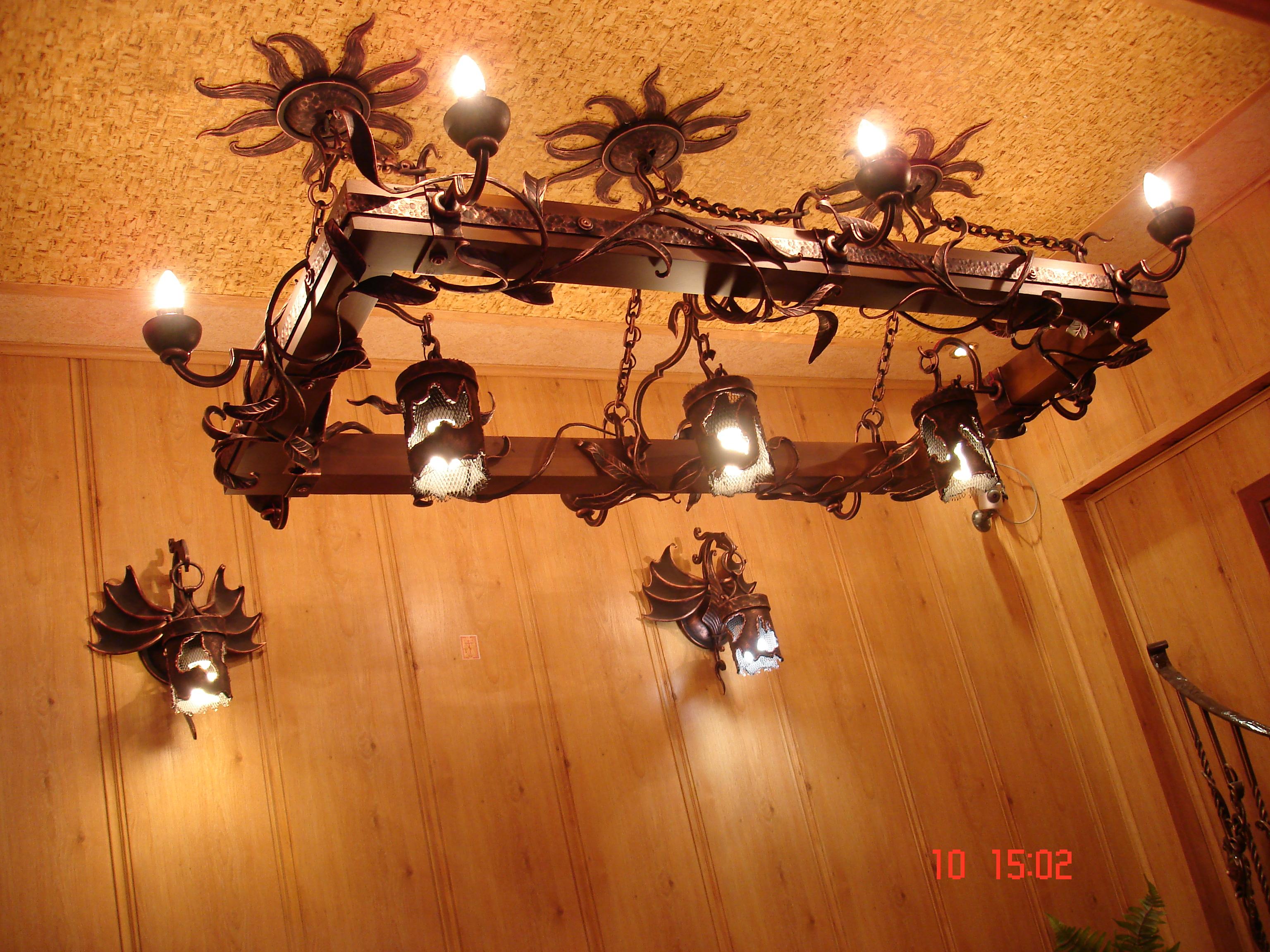 кованые люстры,светильники,бра
