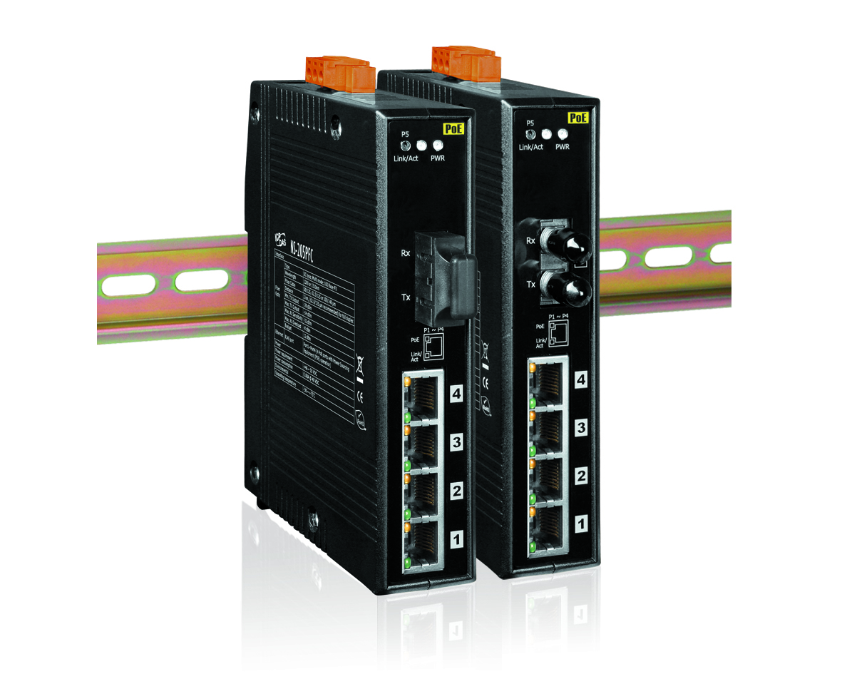 Industrielle Ethernet Switches mit LWL- und PoE-Ports